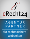 erecht24 siegel agenturpartner blau